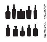 silhoutte of drink bottles | Shutterstock .eps vector #426285409