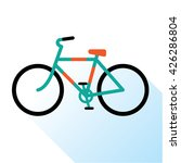 color bicycle icon. retro... | Shutterstock .eps vector #426286804