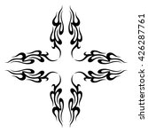 tattoo. stencil. pattern.... | Shutterstock .eps vector #426287761