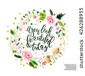 vector hand lettering... | Shutterstock .eps vector #426288955