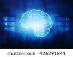 the concept of a thinking human ... | Shutterstock . vector #426291841