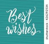 hand lettering typography... | Shutterstock .eps vector #426292534