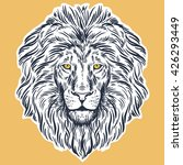 hand drawn lion head isolated.... | Shutterstock .eps vector #426293449
