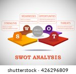 swot analysis 3d template with... | Shutterstock .eps vector #426296809