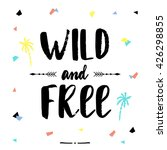 hand lettered inspirational... | Shutterstock .eps vector #426298855