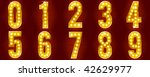 numbers for signs with lamps | Shutterstock .eps vector #42629977