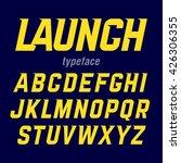 launch typeface  modern bold... | Shutterstock .eps vector #426306355