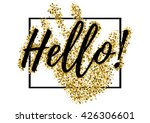 salutatory card with black... | Shutterstock .eps vector #426306601