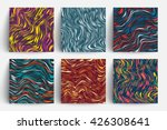 creative trendy cards set. wavy ... | Shutterstock .eps vector #426308641