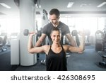 young adult fitness couple.... | Shutterstock . vector #426308695
