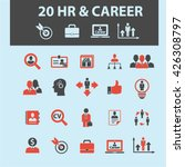 human resources  career icons  | Shutterstock .eps vector #426308797