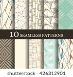 set of 10 retro seamless... | Shutterstock .eps vector #426312901