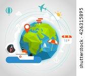 summer seaside vacation concept.... | Shutterstock .eps vector #426315895
