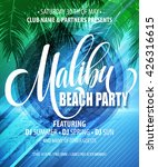 Malibu Beach Party Poster....