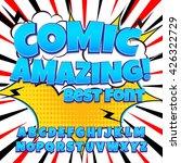 creative high detail comic font.... | Shutterstock .eps vector #426322729