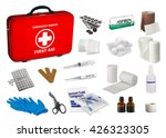 first aid kit box with medical... | Shutterstock . vector #426323305