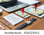 navigation  travel and... | Shutterstock . vector #426325411