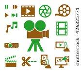 multimedia icon set | Shutterstock .eps vector #426325771