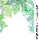 leaf green background. vector ... | Shutterstock .eps vector #426326335