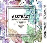 leaf colorful background.... | Shutterstock .eps vector #426326341