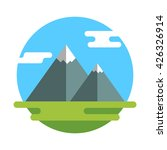 mountains flat icon. | Shutterstock .eps vector #426326914