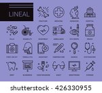line vector icons in a modern... | Shutterstock .eps vector #426330955