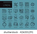 line vector icons in a modern... | Shutterstock .eps vector #426331291