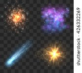 space cosmos objects  comet ...   Shutterstock .eps vector #426332269
