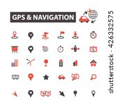 gps navigation icons  | Shutterstock .eps vector #426332575