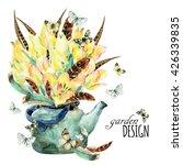 Watercolor Floral Garden Card...