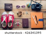planning for trip clothing and... | Shutterstock . vector #426341395