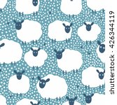vector seamless pattern with... | Shutterstock .eps vector #426344119