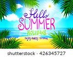 hello summer. poster on... | Shutterstock . vector #426345727