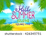 hello summer. poster on... | Shutterstock . vector #426345751