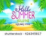 hello summer. poster on... | Shutterstock . vector #426345817