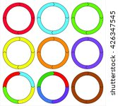 circle  ring. set of 9 colorful ... | Shutterstock .eps vector #426347545
