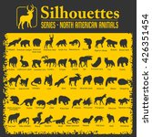 Stock vector silhouettes isolated north american animals vector set 426351454