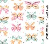 vector seamless girly pattern... | Shutterstock .eps vector #426351631
