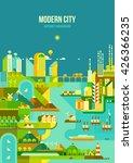 infographic   modern city ... | Shutterstock .eps vector #426366235