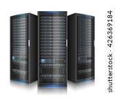 row of network servers ... | Shutterstock .eps vector #426369184