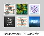 vector set  hand lettering... | Shutterstock .eps vector #426369244