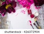 workspace. watercolor ... | Shutterstock . vector #426372904