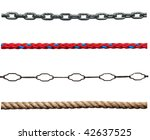 Collection Of Various Ropes An...