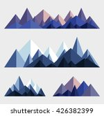mountains low poly style set.... | Shutterstock .eps vector #426382399