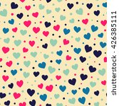seamless hearts and dots... | Shutterstock .eps vector #426385111