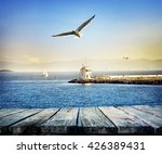 Pier Stretching Into Sea From...