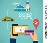online booking ticked. buy... | Shutterstock .eps vector #426391147