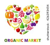organic food concept. heart... | Shutterstock . vector #426393454