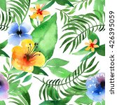 watercolor seamless floral... | Shutterstock . vector #426395059