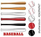 baseball and baseball bat... | Shutterstock .eps vector #426396967